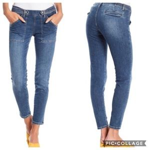 Free People Stratford Patch Pocket Skinny Jeans